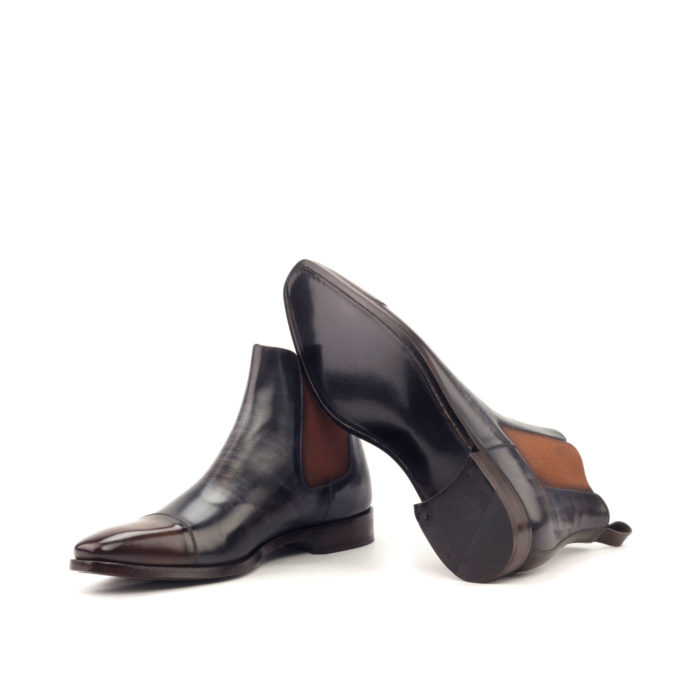huskyandsmith The Bishops, Grey & Brown Crust Patina Chelsea Boot