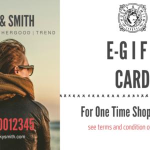 HandSmith E-Gift Card men women ladies boy girl shoe footwear wedding business London Manchester