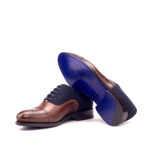 husky & smith navy blue flannel med brown men shoes footwear london zurich