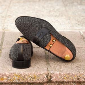 nailhead sartorial + black box calf loafers men footwear london horse polo farm outdoors