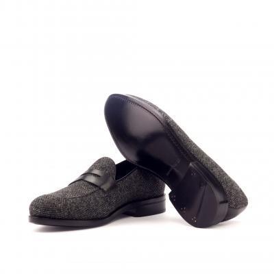 nailhead sartorial + black box calf loafers men footwear london zurich wedding slippers