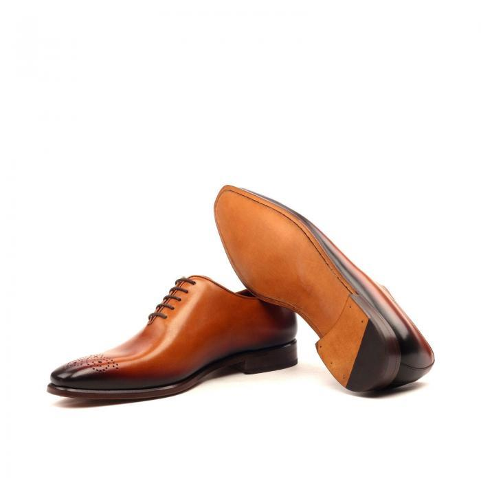 huskyandsmith cognac painted calf goodyear welt husky & smith