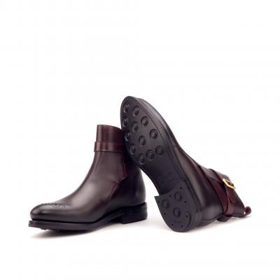 Jodhpur Goodyear Welted - Dark Burnishing - Painted Calf Burgundy men fashion footwear outdoor horse polo equestrian london