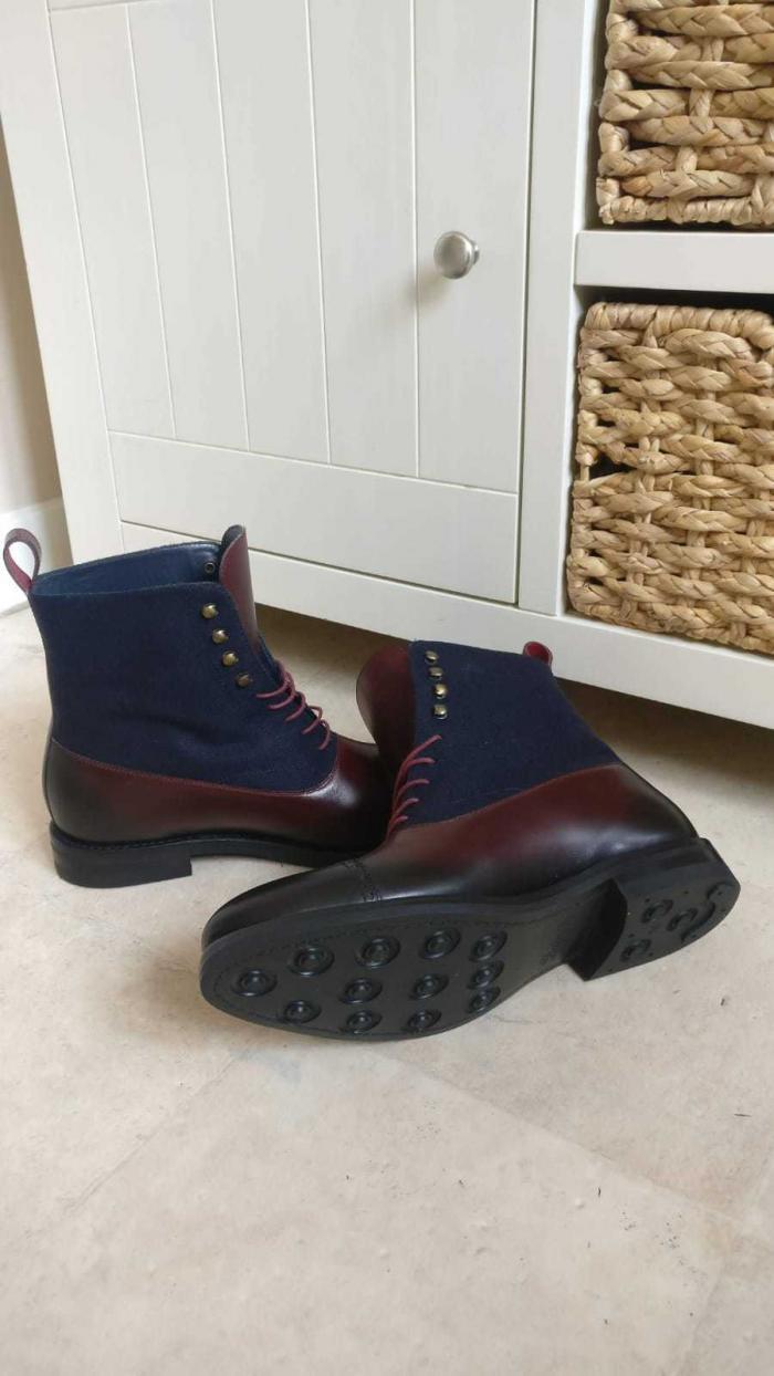 husky & smith favian goodyear welt boot 3 foot feet scan scanner london footwear