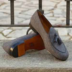 Husky Smith Dain Tassels in Porpoise London Wedding Loafers