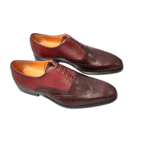 husky smith brogues burgundy shoes travelling handmade